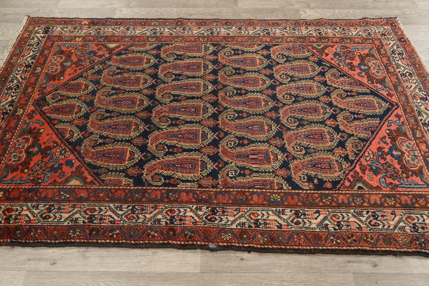 Antique All-Over Malayer Persian Area Rug 4x7 image 14