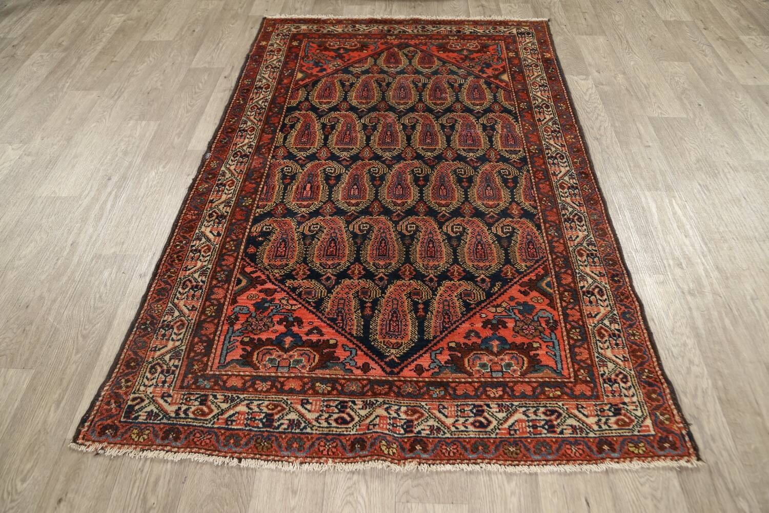 Antique All-Over Malayer Persian Area Rug 4x7 image 15