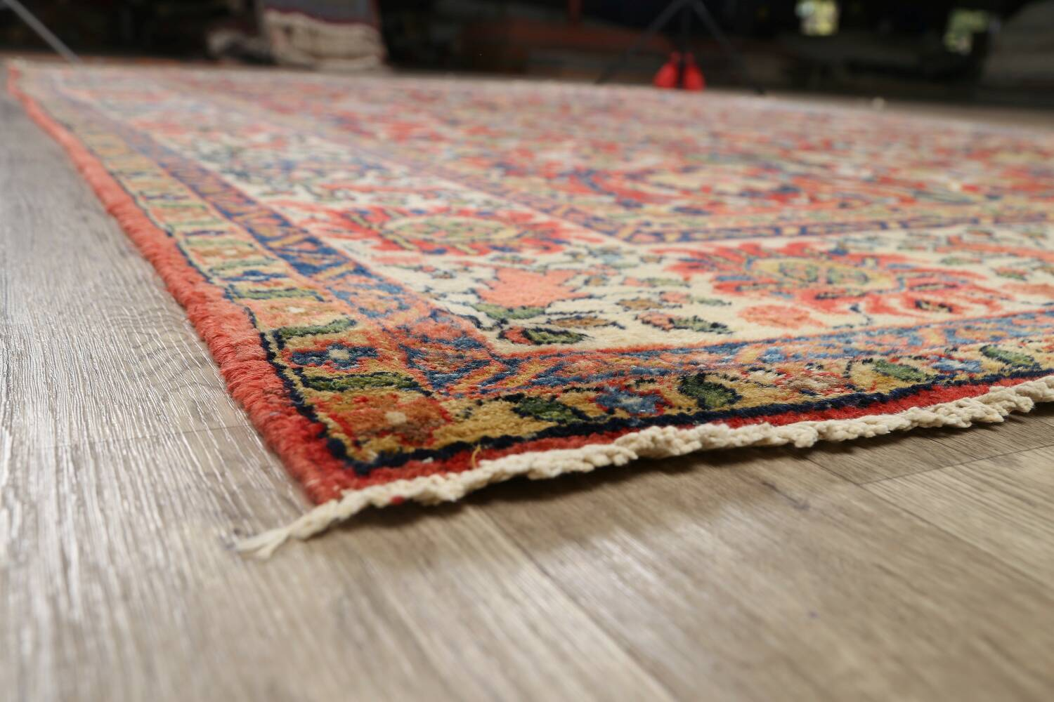 Pre-1900 Vegetable Dye Sultanabad Persian Area Rug 10x13 image 6