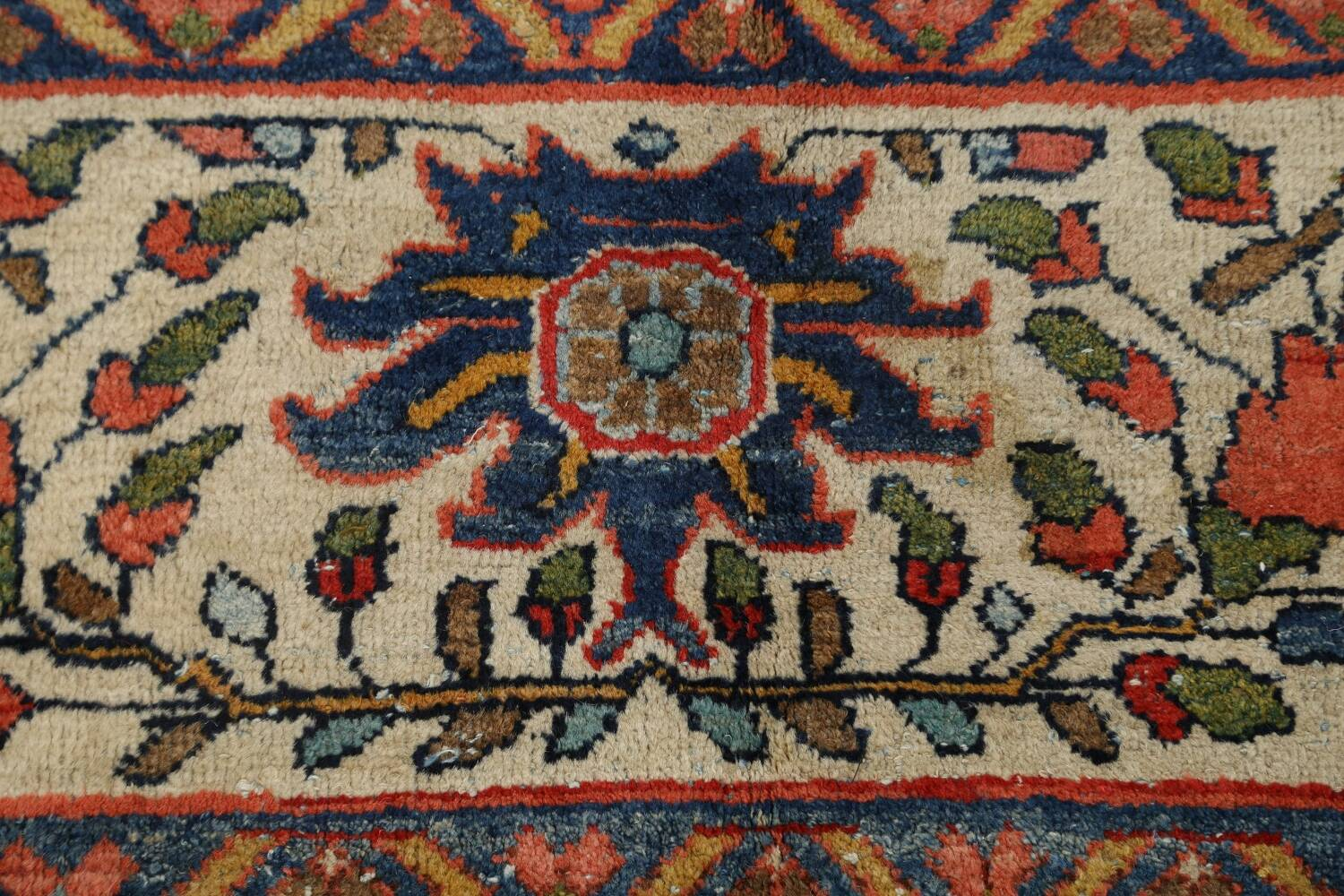 Pre-1900 Vegetable Dye Sultanabad Persian Area Rug 10x13 image 9