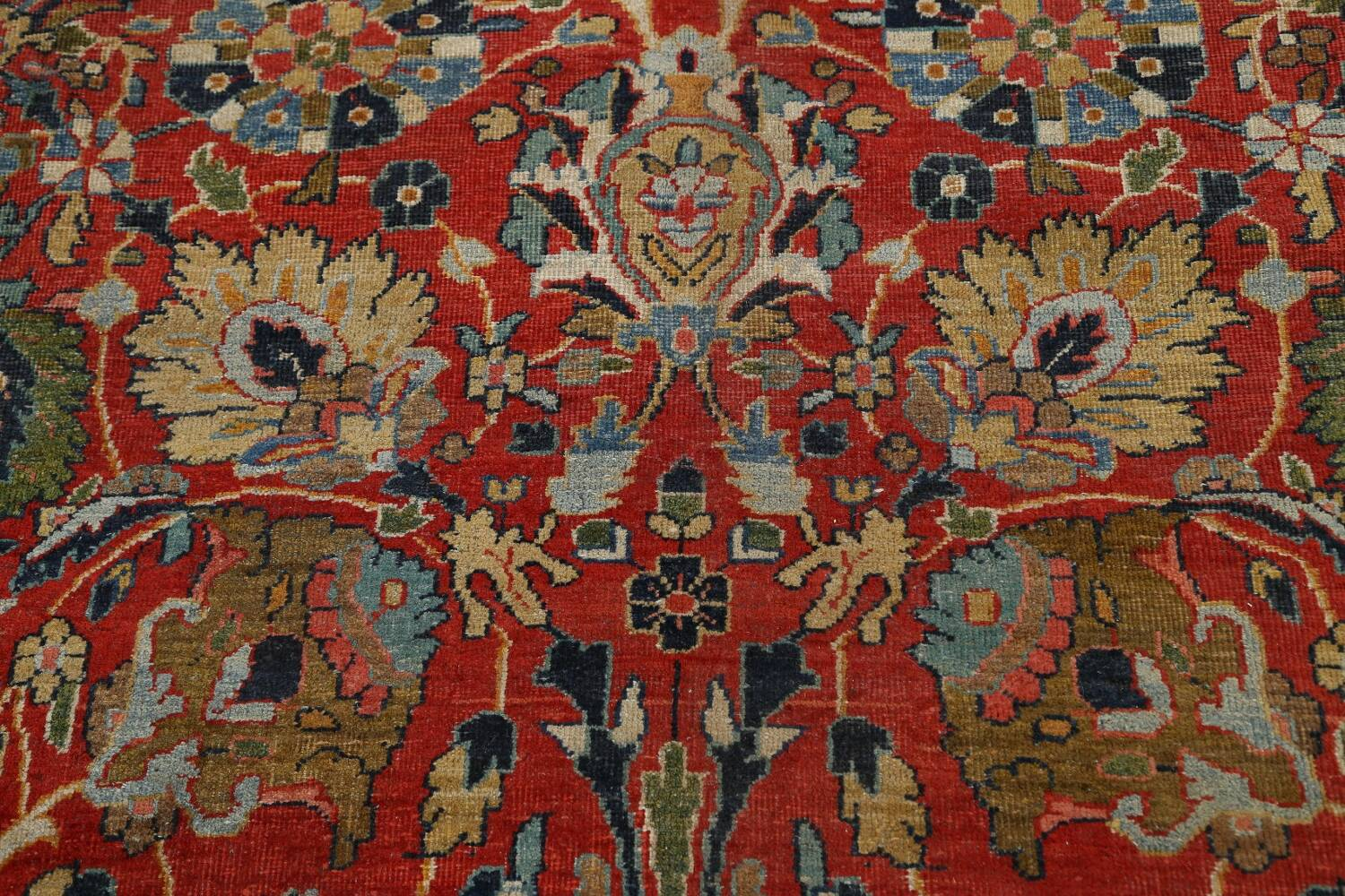 Pre-1900 Vegetable Dye Sultanabad Persian Area Rug 10x13 image 11