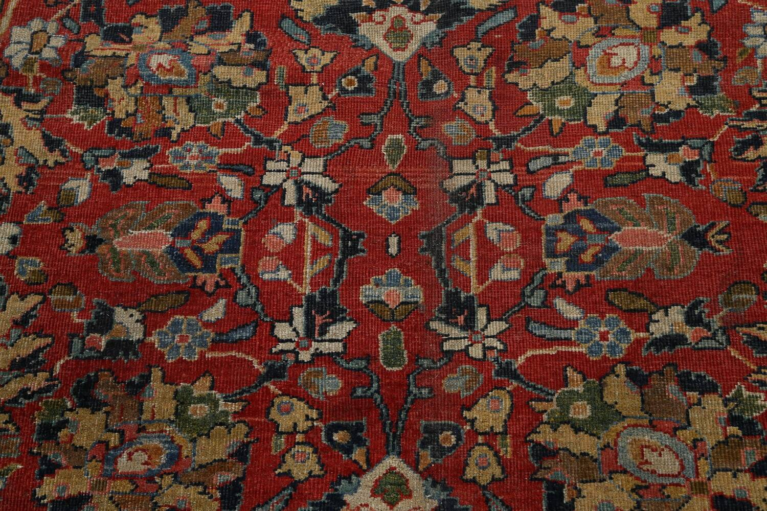 Pre-1900 Vegetable Dye Sultanabad Persian Area Rug 10x13 image 12