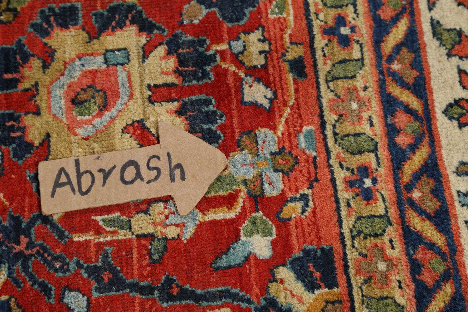 Pre-1900 Vegetable Dye Sultanabad Persian Area Rug 10x13 image 14