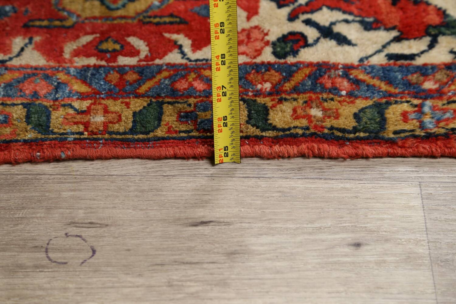 Pre-1900 Vegetable Dye Sultanabad Persian Area Rug 10x13 image 22