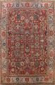 Pre-1900 Vegetable Dye Sultanabad Persian Area Rug 10x13 image 1