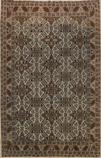 Geometric Anatolian Turkish Oriental Area Rug 7x8