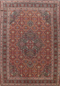 Pre-1900 Antique Sultanabad Persian Area Rug 11x13 Large