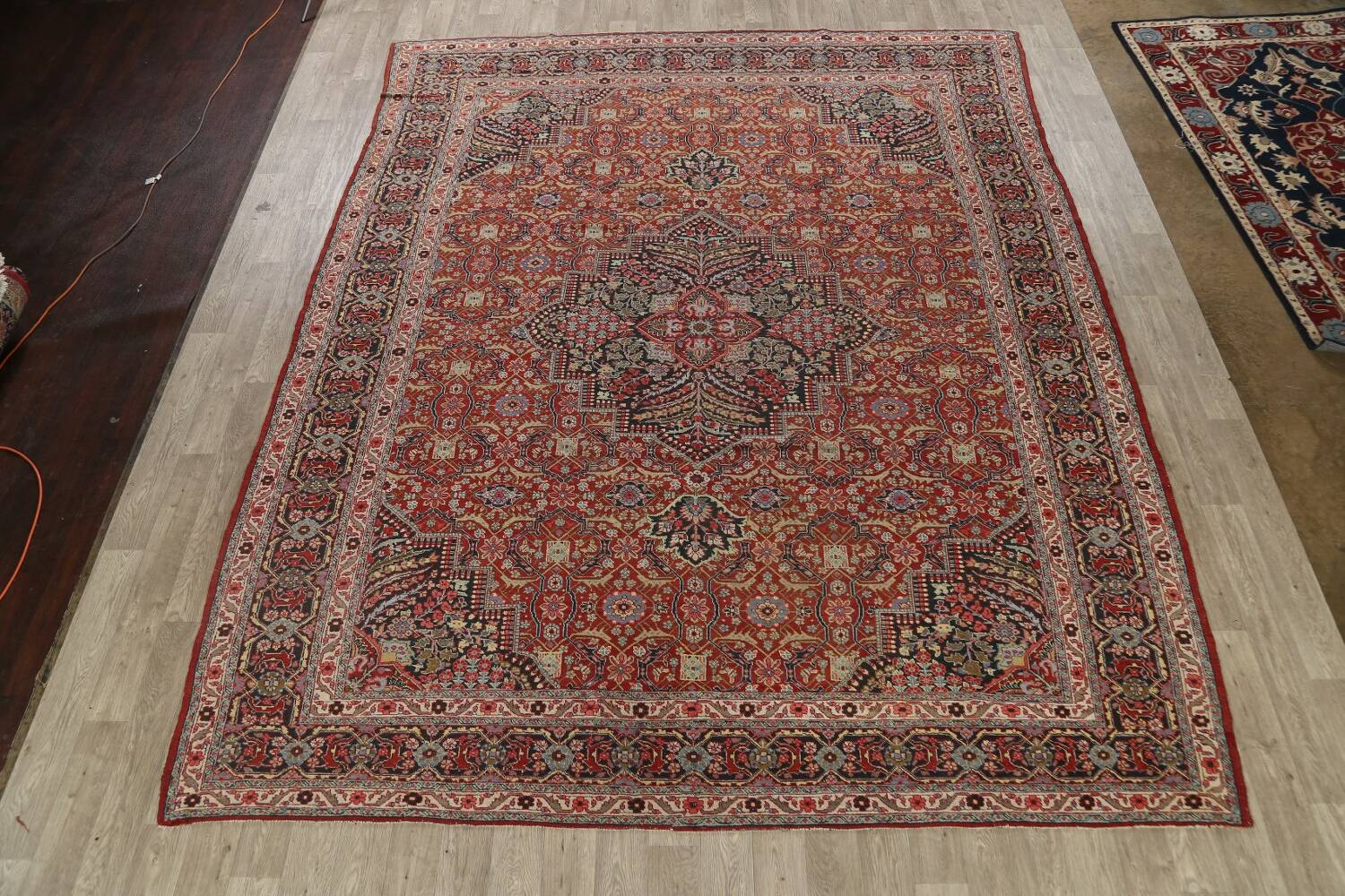 Pre-1900 Antique Sultanabad Persian Area Rug 11x13 Large image 2