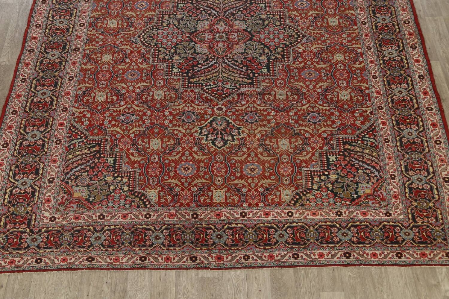 Pre-1900 Antique Sultanabad Persian Area Rug 11x13 Large image 8