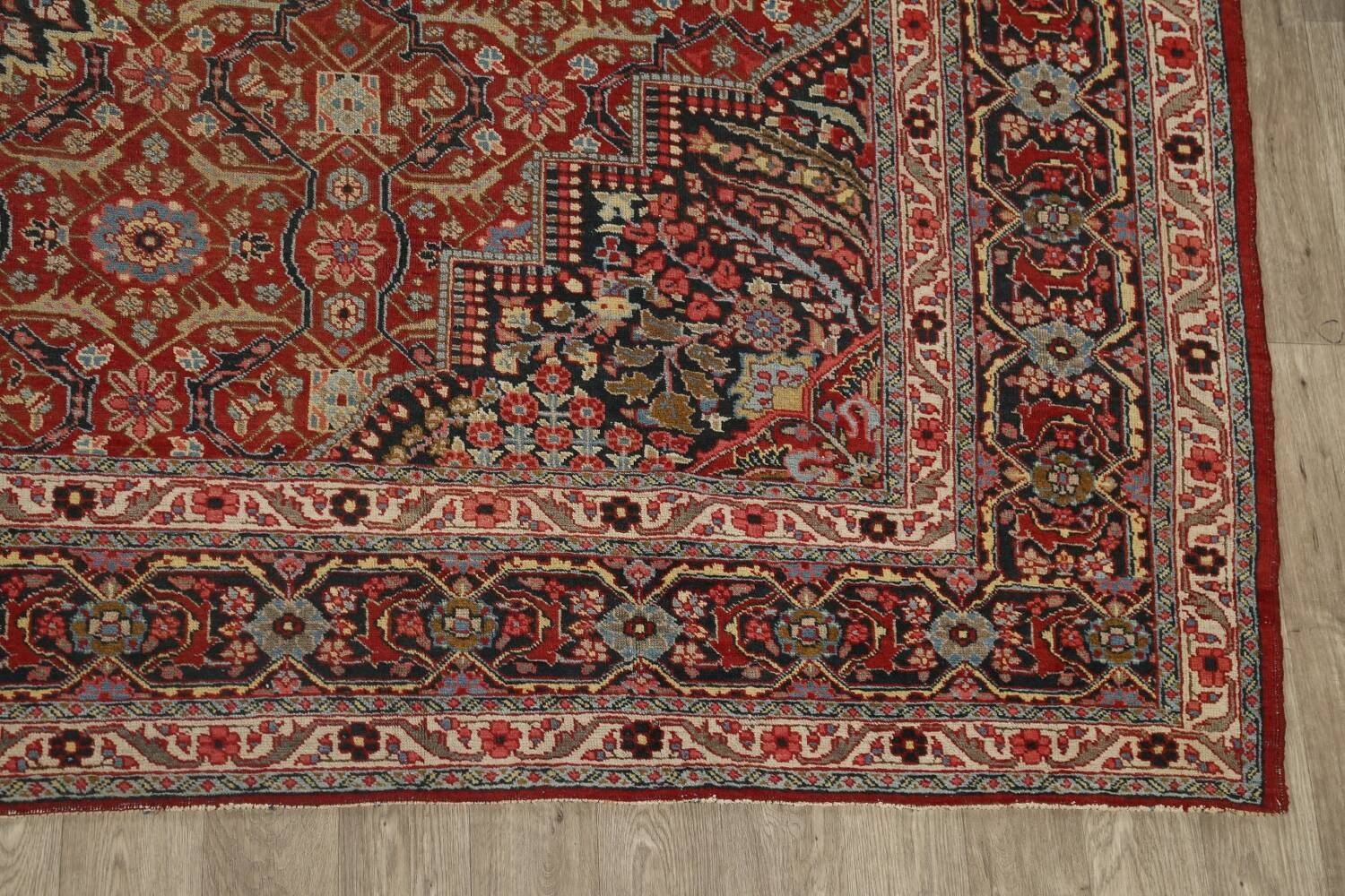Pre-1900 Antique Sultanabad Persian Area Rug 11x13 Large image 5