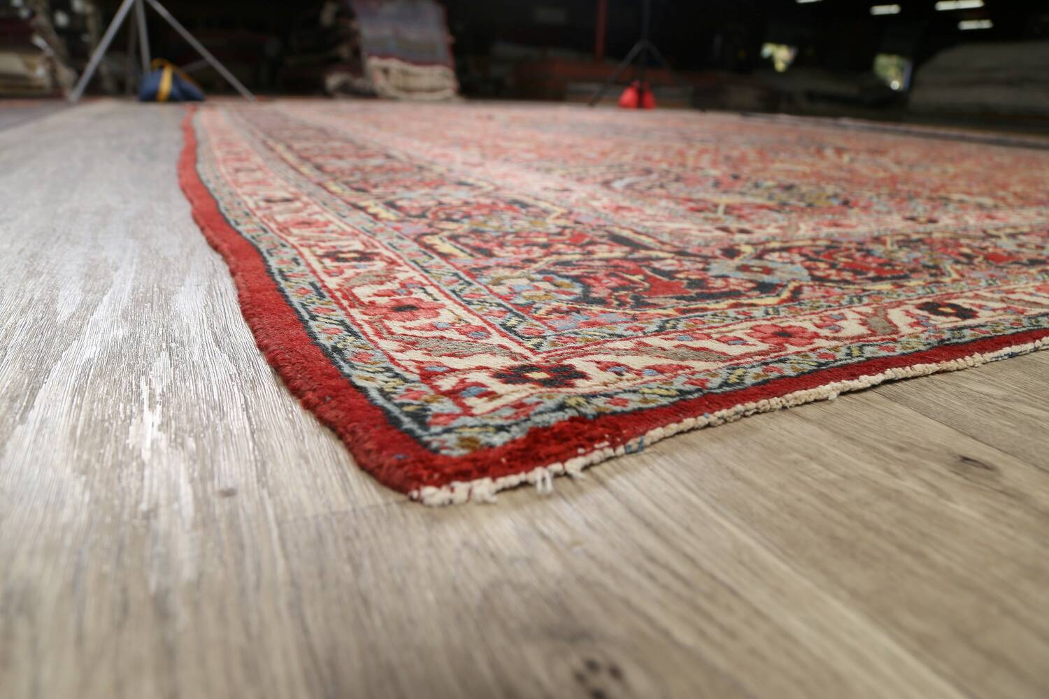 Pre-1900 Antique Sultanabad Persian Area Rug 11x13 Large image 6