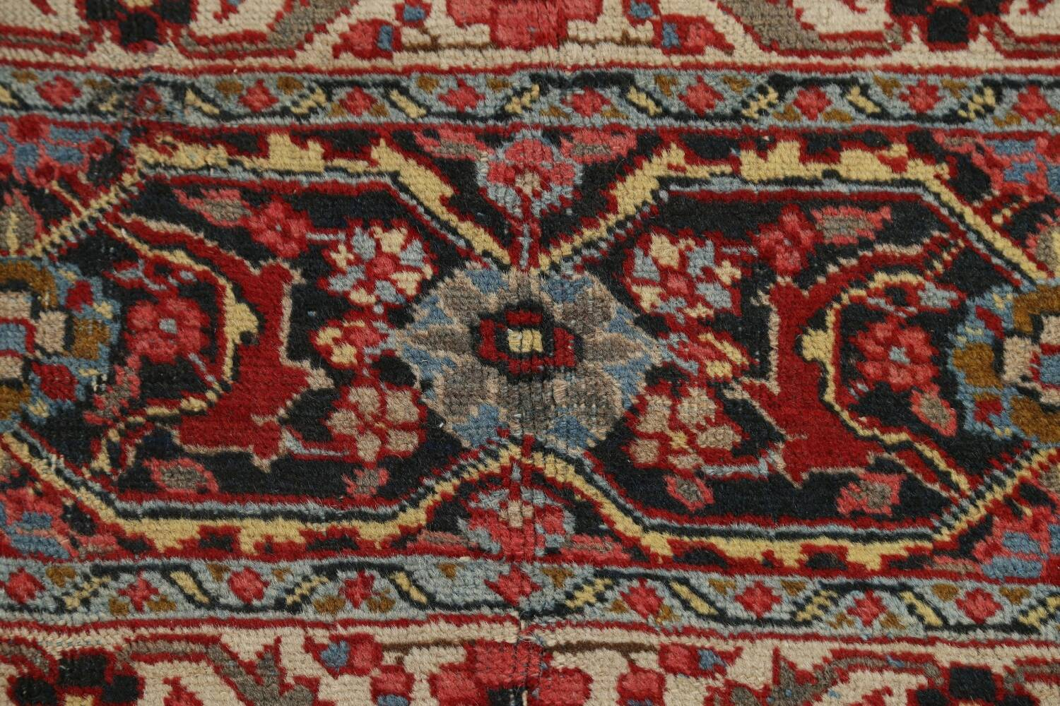 Pre-1900 Antique Sultanabad Persian Area Rug 11x13 Large image 9