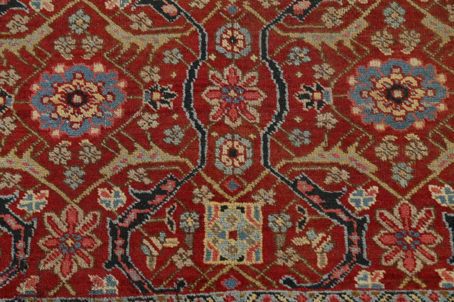Pre-1900 Antique Sultanabad Persian Area Rug 11x13 Large image 10