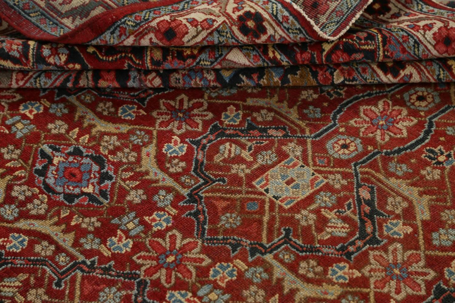 Pre-1900 Antique Sultanabad Persian Area Rug 11x13 Large image 17