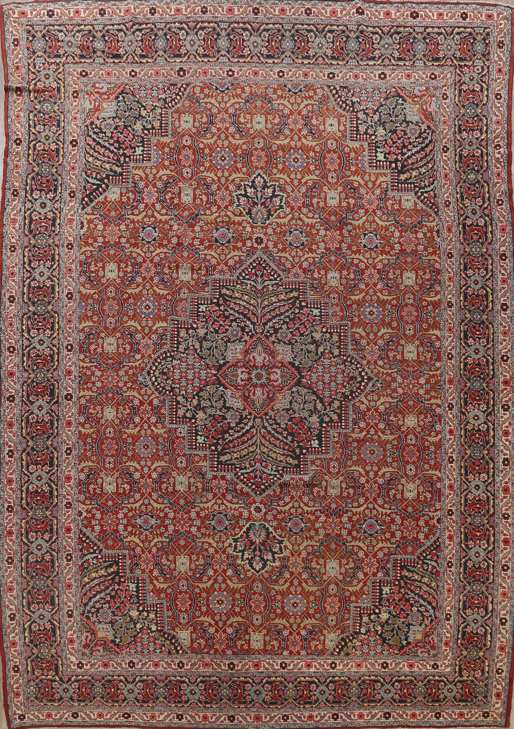 Pre-1900 Antique Sultanabad Persian Area Rug 11x13 Large image 1