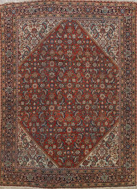 Pre-1900 Vegetable Dye Sultanabad Persian Area Rug 9x11