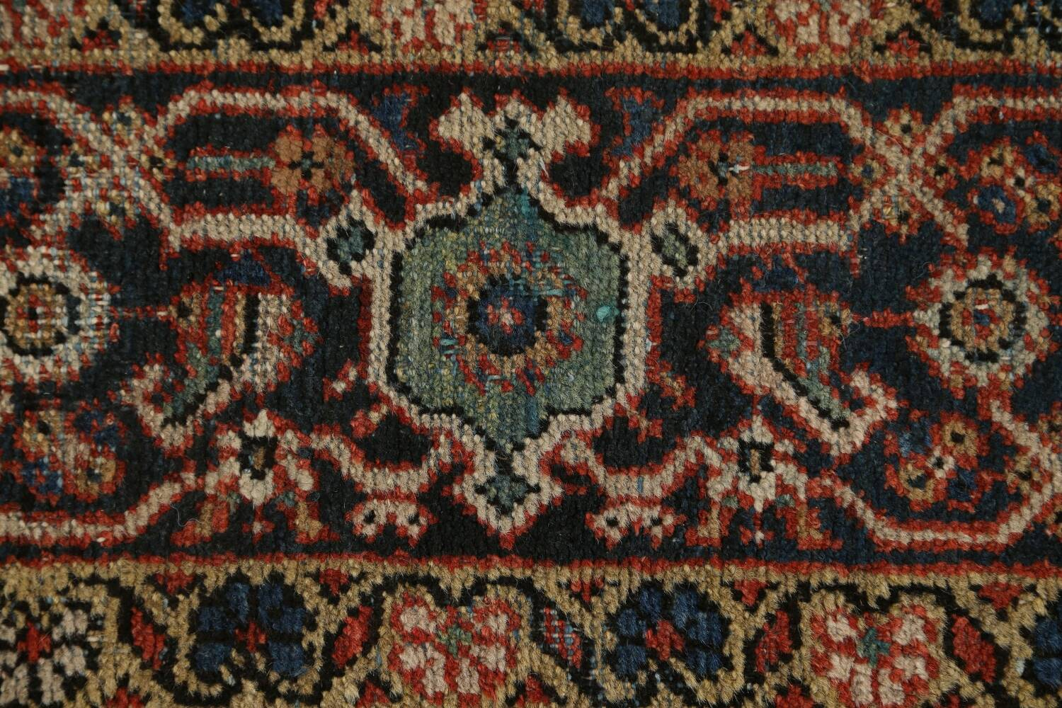 Pre-1900 Vegetable Dye Sultanabad Persian Area Rug 9x11 image 9