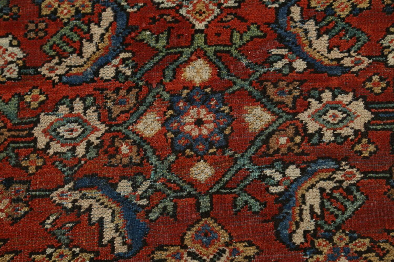 Pre-1900 Vegetable Dye Sultanabad Persian Area Rug 9x11 image 10