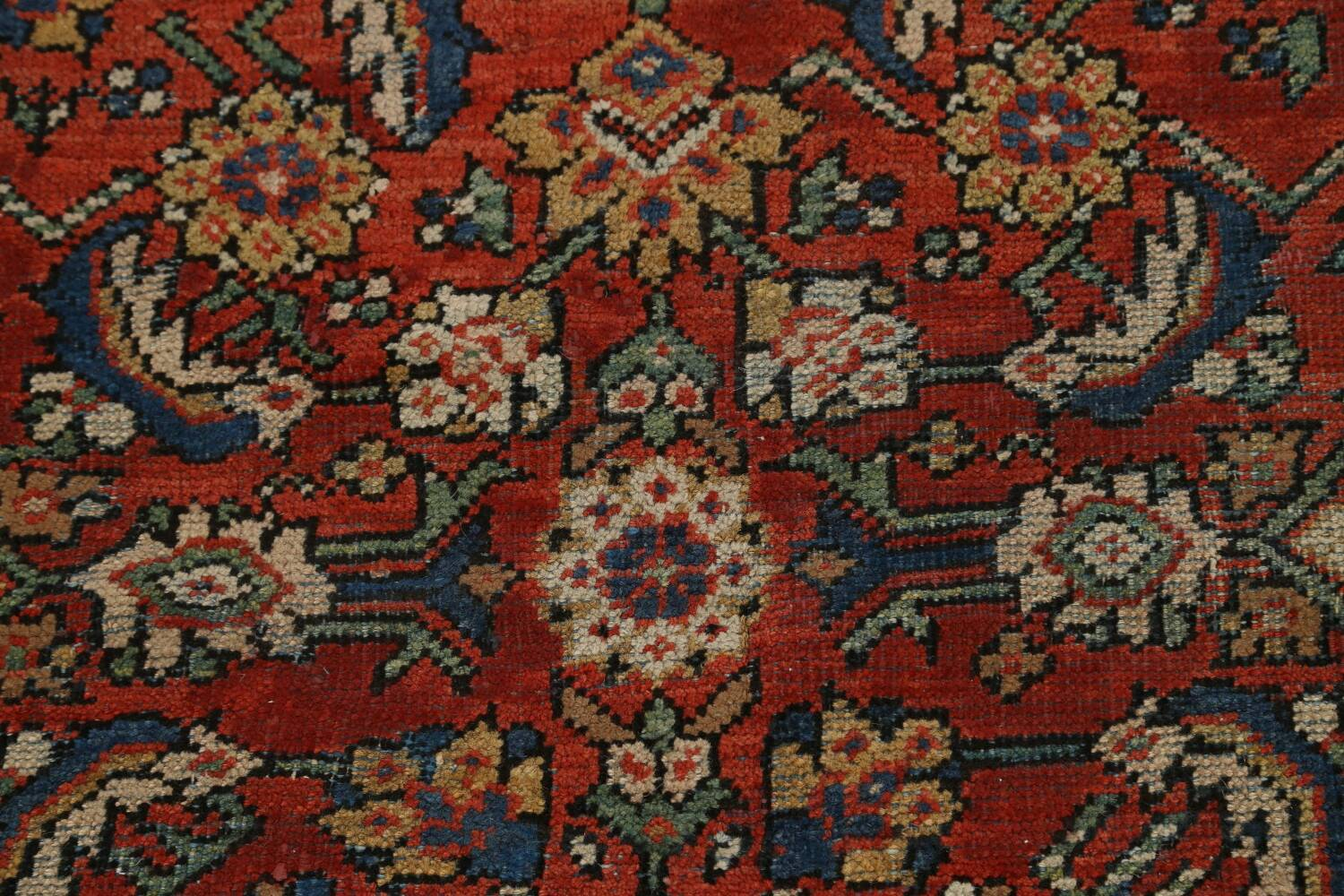 Pre-1900 Vegetable Dye Sultanabad Persian Area Rug 9x11 image 11