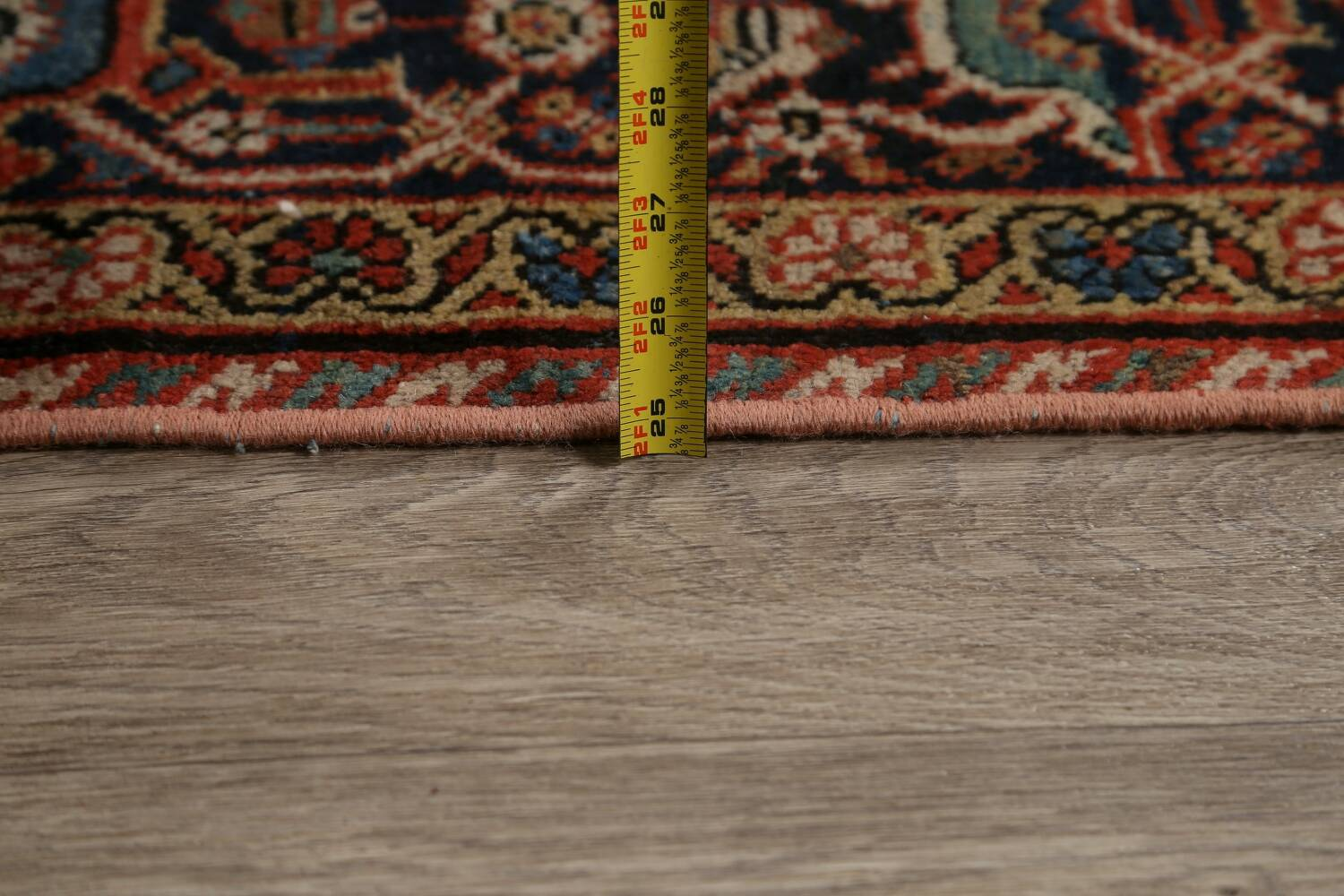 Pre-1900 Vegetable Dye Sultanabad Persian Area Rug 9x11 image 19