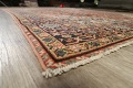 Pre-1900 Vegetable Dye Sultanabad Persian Area Rug 9x11 image 6
