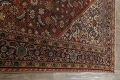 Pre-1900 Vegetable Dye Sultanabad Persian Area Rug 9x11 image 13