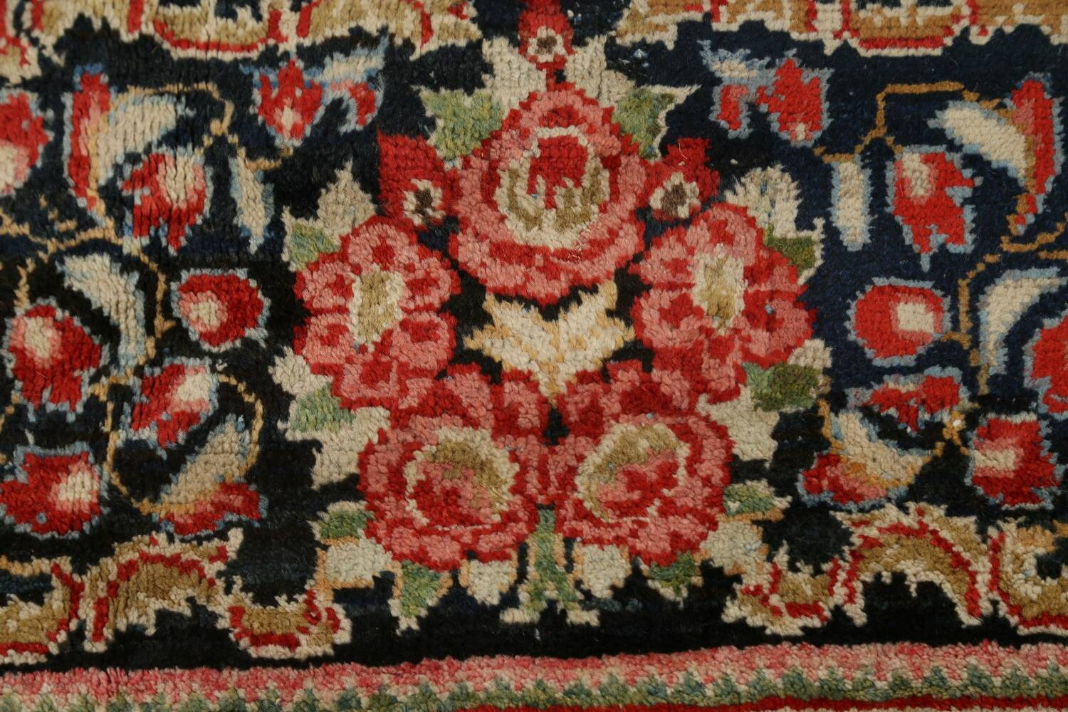 Antique Vegetable Dye Sultanabad Persian Area Rug 10x14 image 9