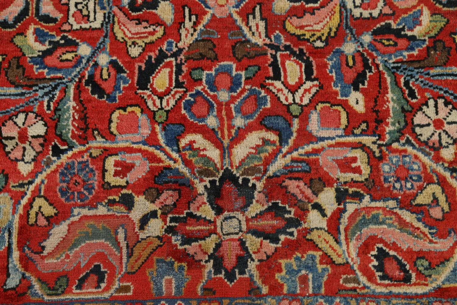 Antique Vegetable Dye Sultanabad Persian Area Rug 10x14 image 10