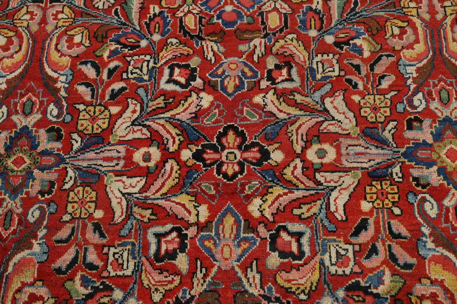 Antique Vegetable Dye Sultanabad Persian Area Rug 10x14 image 11