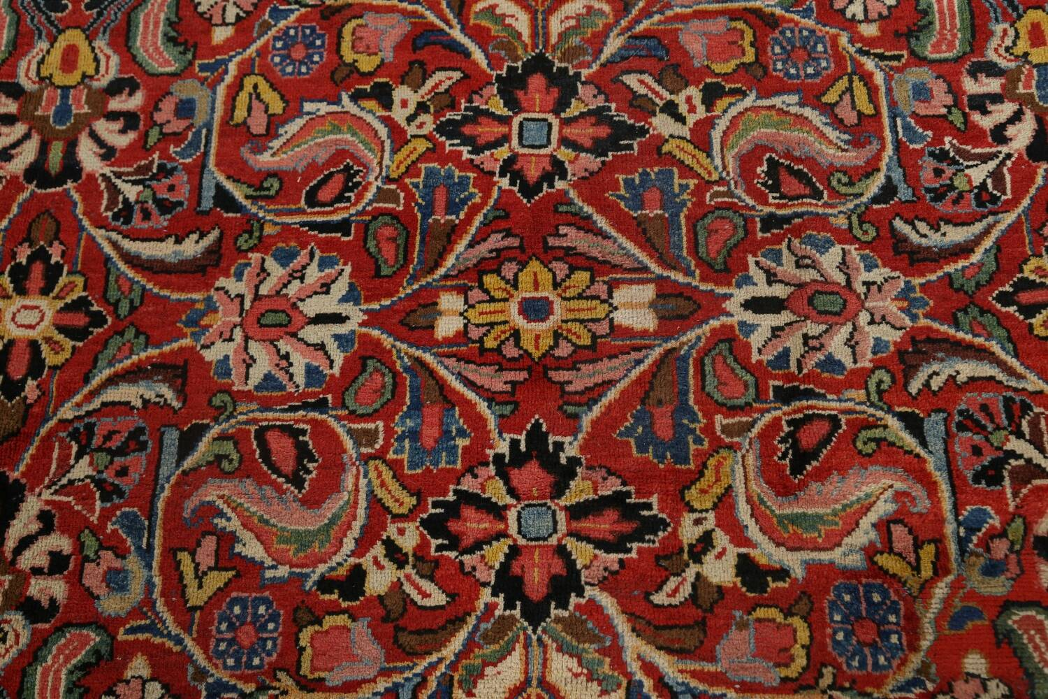 Antique Vegetable Dye Sultanabad Persian Area Rug 10x14 image 12