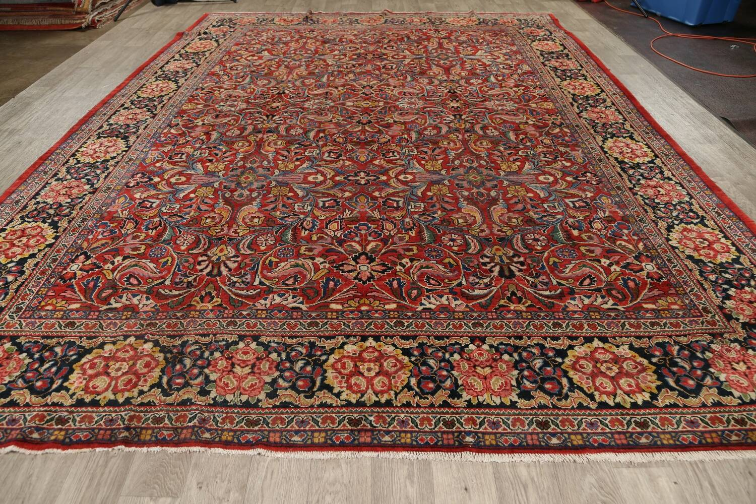 Antique Vegetable Dye Sultanabad Persian Area Rug 10x14 image 20