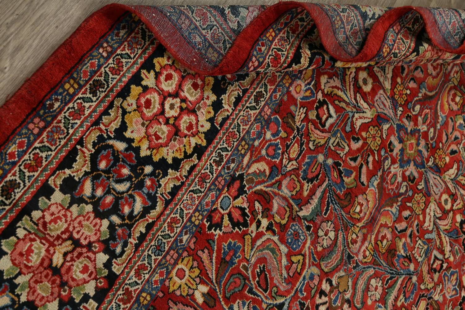 Antique Vegetable Dye Sultanabad Persian Area Rug 10x14 image 22