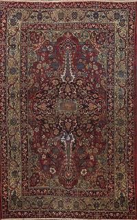 Pre-1900 Antique Vegetable Dye Kerman Persian Area Rug 4x6
