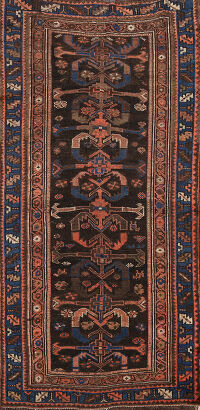 Pre-1900 Vegetable Dye Bakhtiari Persian Area Rug 3x6