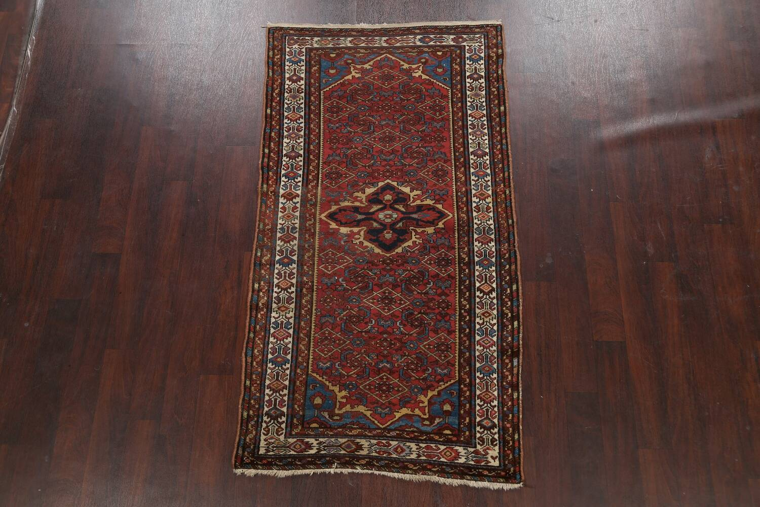 Pre-1900 Antique Vegetable Dye Malayer Persian Area Rug 4x7 image 2