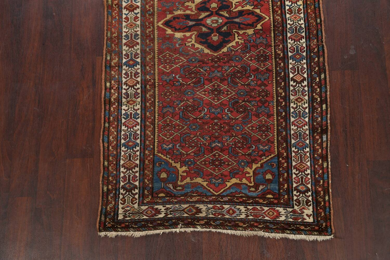 Pre-1900 Antique Vegetable Dye Malayer Persian Area Rug 4x7 image 8
