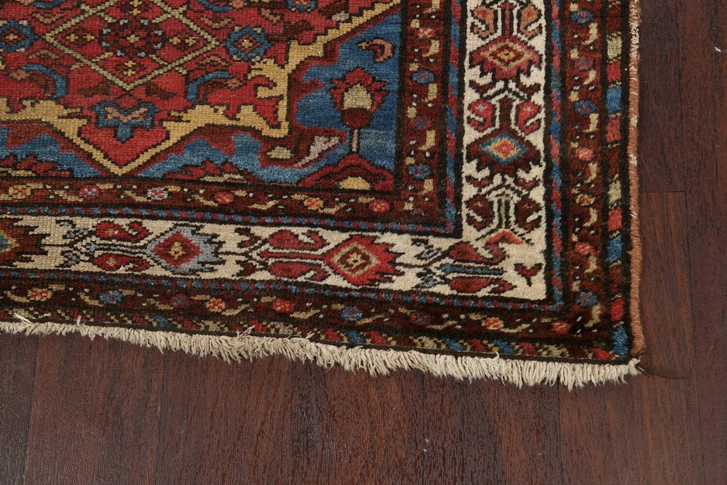 Pre-1900 Antique Vegetable Dye Malayer Persian Area Rug 4x7 image 5