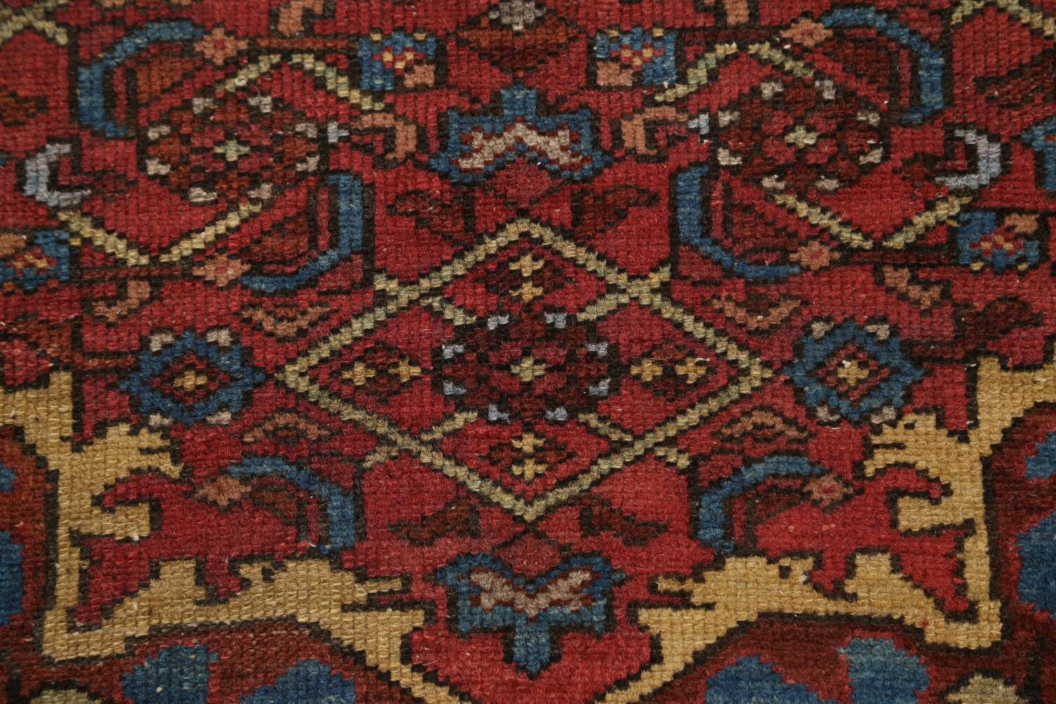 Pre-1900 Antique Vegetable Dye Malayer Persian Area Rug 4x7 image 9