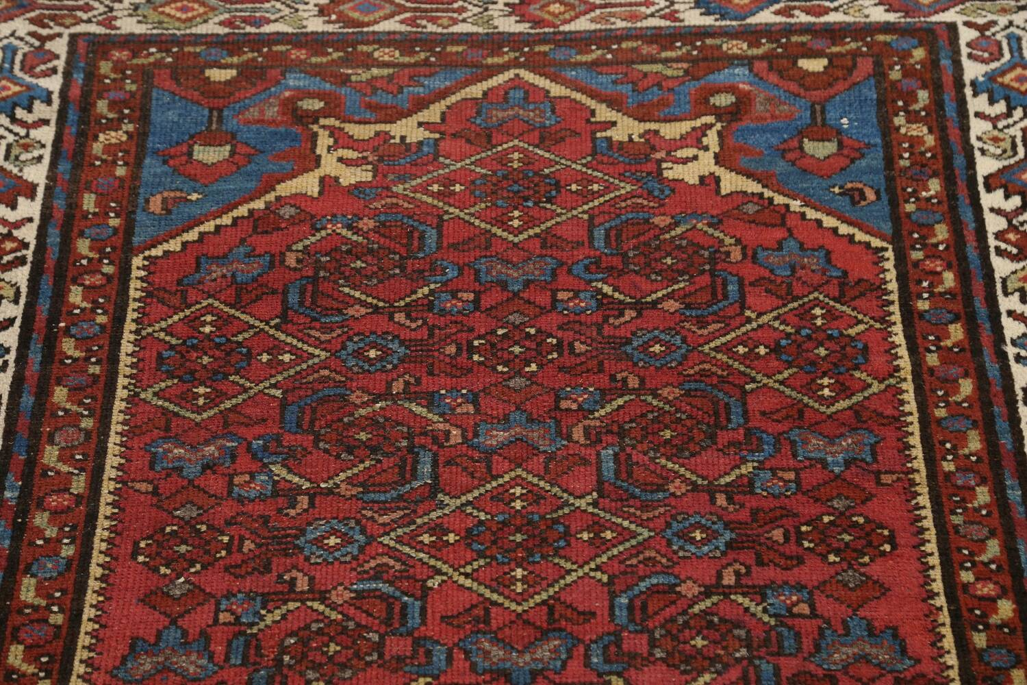 Pre-1900 Antique Vegetable Dye Malayer Persian Area Rug 4x7 image 12