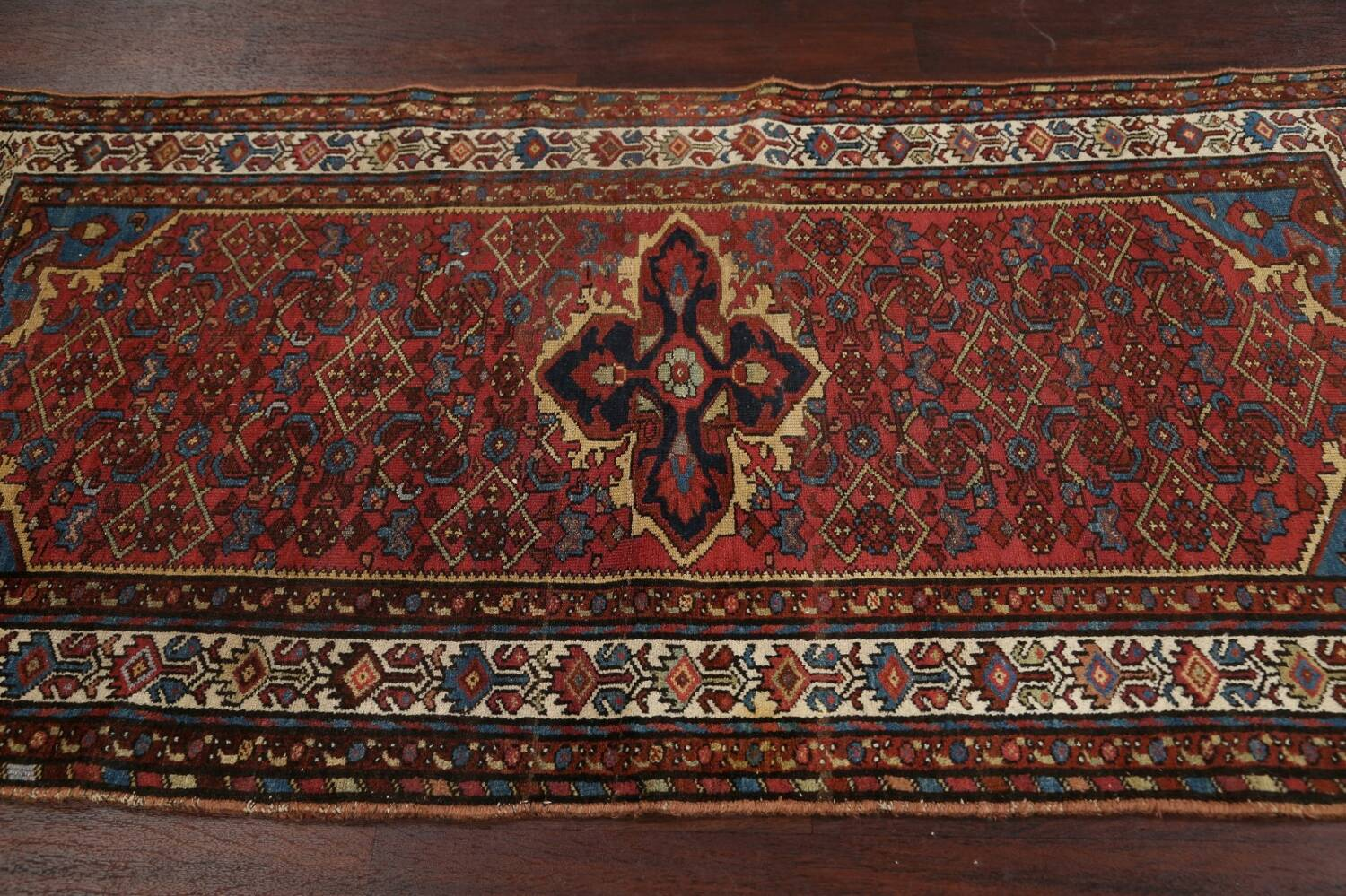 Pre-1900 Antique Vegetable Dye Malayer Persian Area Rug 4x7 image 14