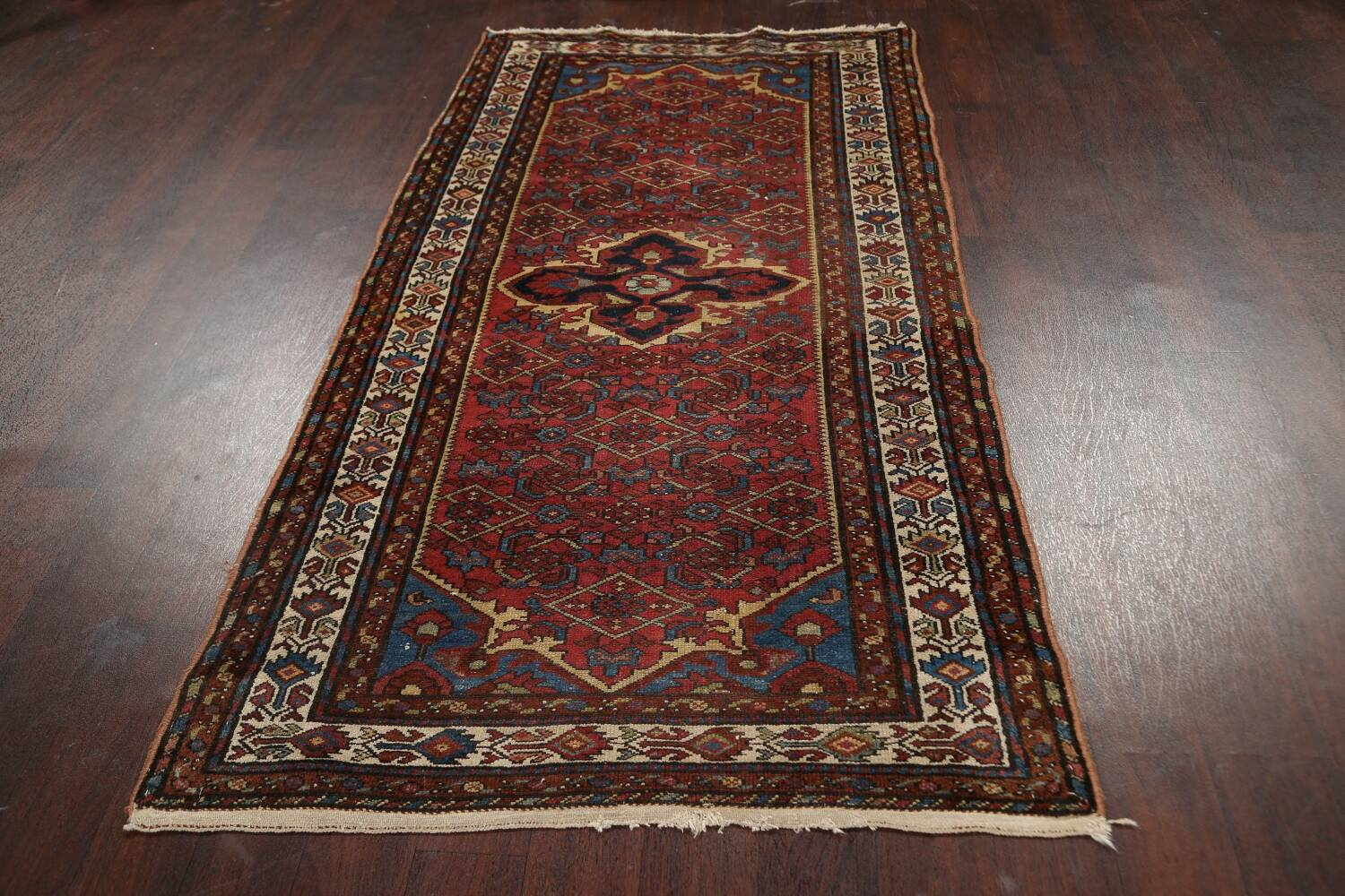Pre-1900 Antique Vegetable Dye Malayer Persian Area Rug 4x7 image 15