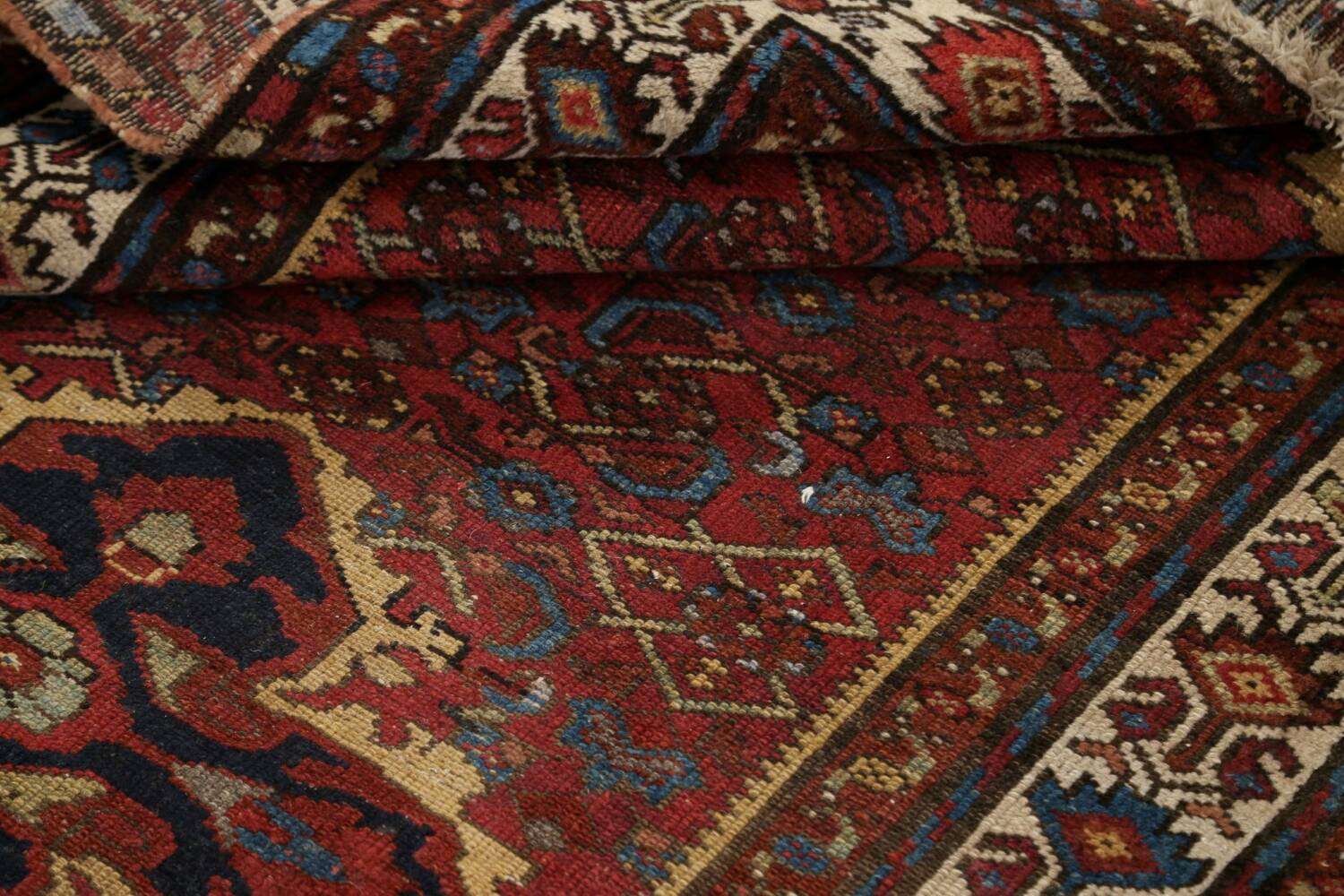 Pre-1900 Antique Vegetable Dye Malayer Persian Area Rug 4x7 image 16