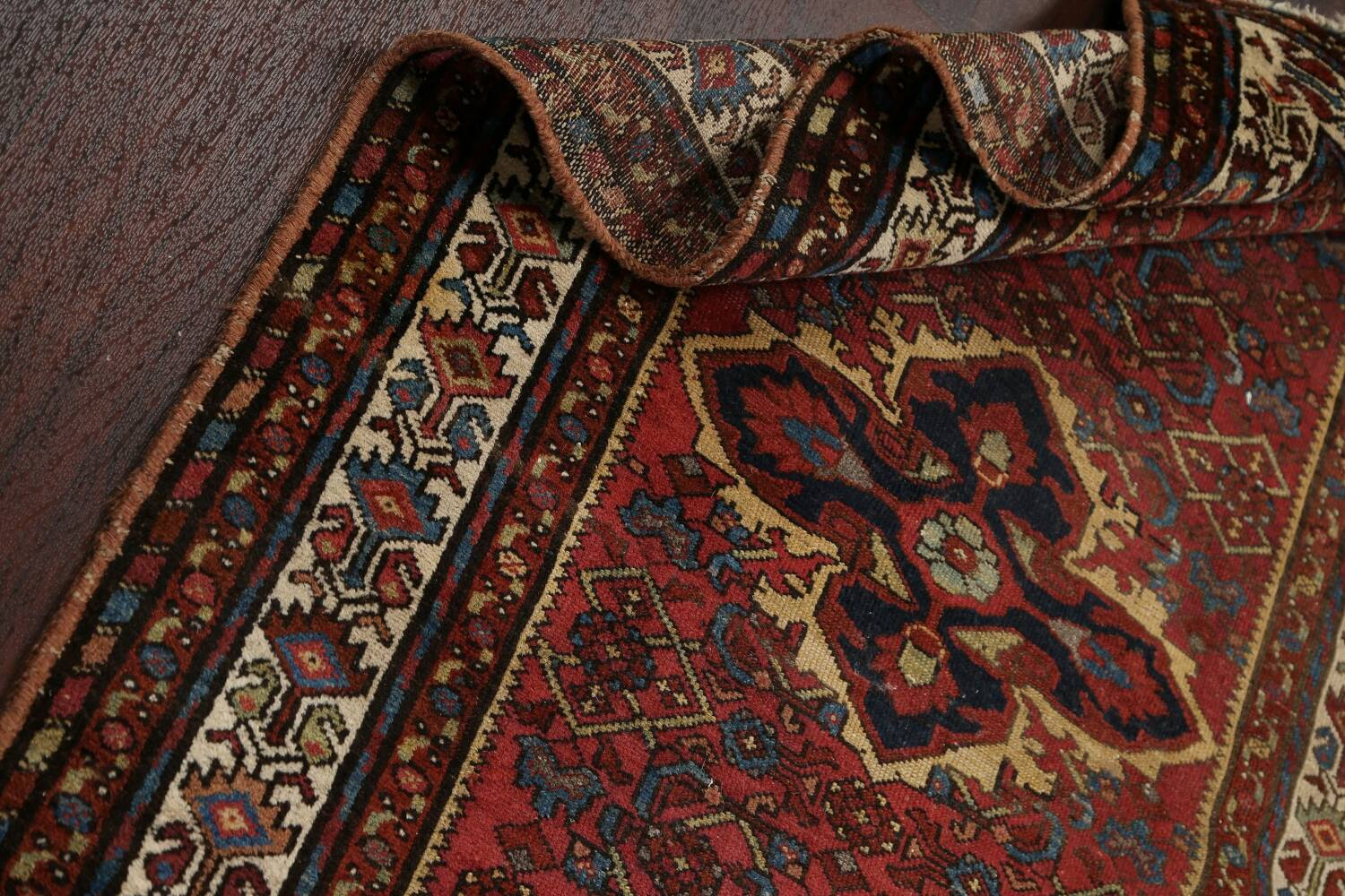 Pre-1900 Antique Vegetable Dye Malayer Persian Area Rug 4x7 image 17