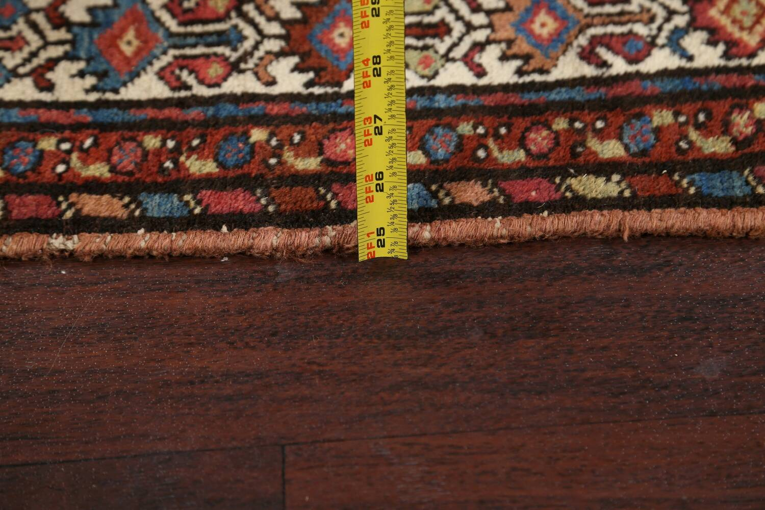 Pre-1900 Antique Vegetable Dye Malayer Persian Area Rug 4x7 image 19