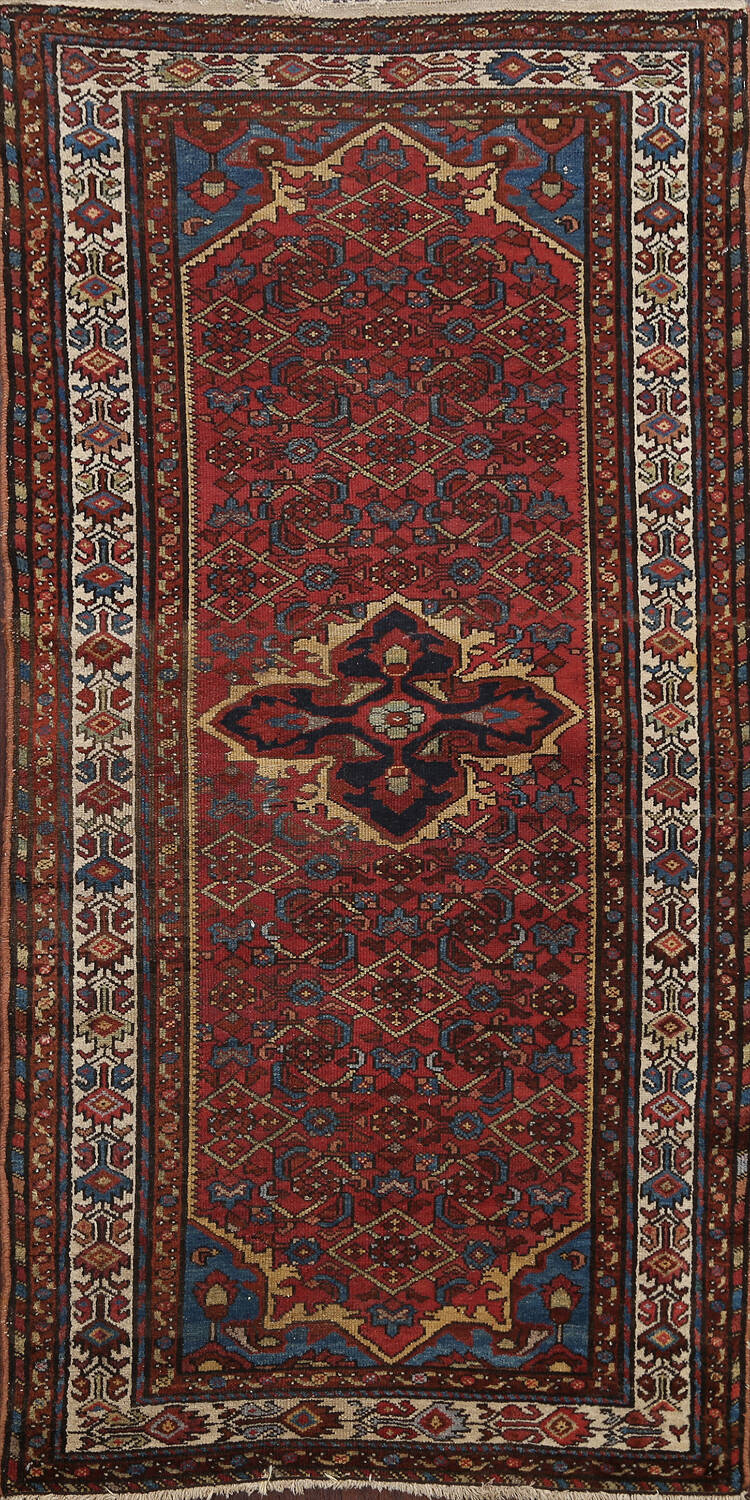 Pre-1900 Antique Vegetable Dye Malayer Persian Area Rug 4x7 image 1