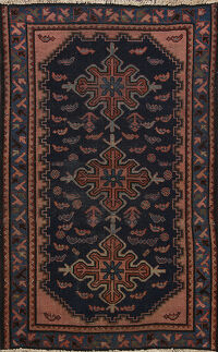 Pre-1900 Antique Vegetable Dye Lilian Persian Area Rug 3x5
