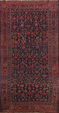 Antique Geometric Bidjar Persian Area Rug 4x8