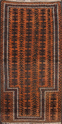 Antique Tribal Balouch Oriental Area Rug 3x5
