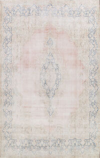 Muted Distressed Kerman Persian Area Rug 10x13