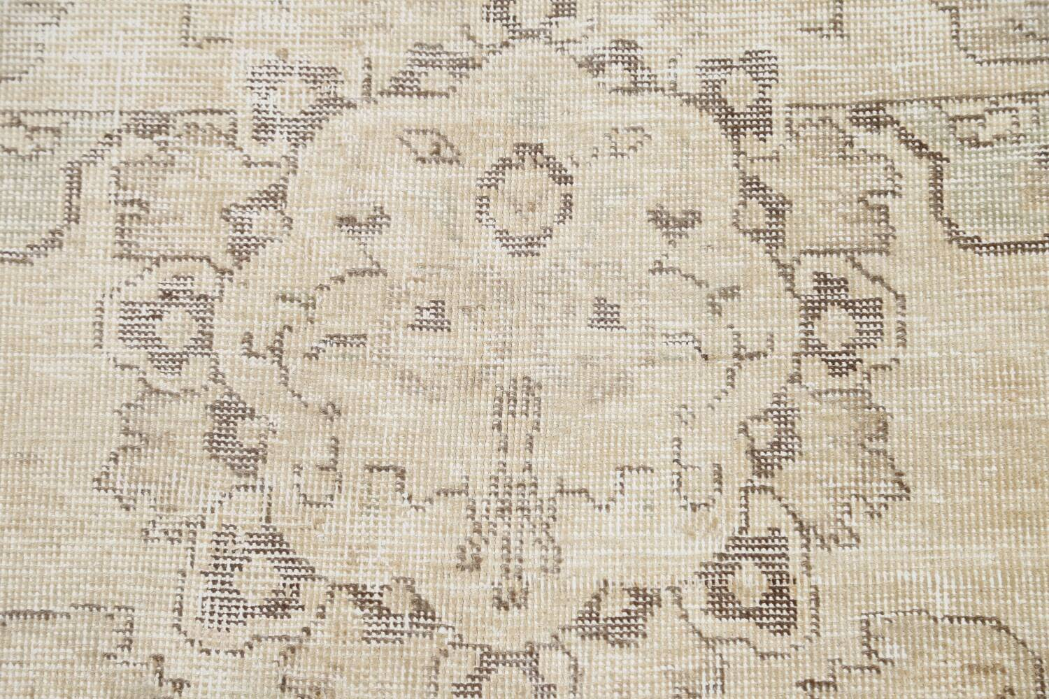Muted Distressed Tabriz Persian Area Rug 10x12 image 9